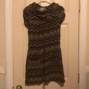 Brown pocket dress